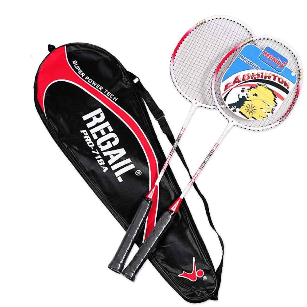 Amazon.com : GJJ Aluminum Alloy Badminton Racket Two Packs Training Badminton Racket, Blue Style, A : Sports & Outdoors