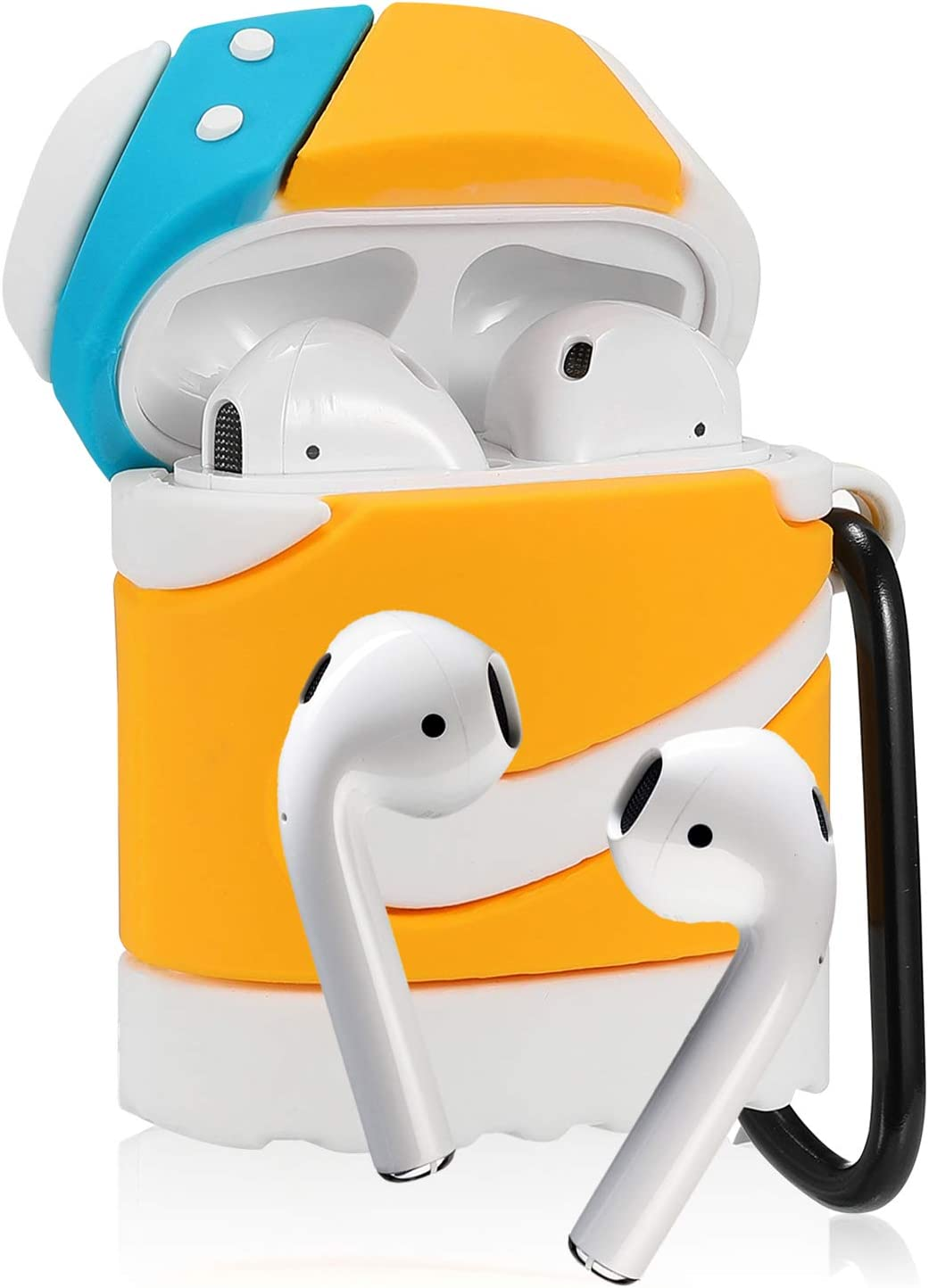 Cool Sport Stylish Fashion Soft Silicone Character Shockproof Airpod Skin Cases for Air pods 1/&2 Joyleop Yellow Shoes Case Compatible with Airpods 1//2 Cute Fun Funny 3D Kids Girls Teens Boys Cover