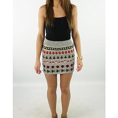 Sweater Shop - Falda - para mujer plateado Silver Mix M: Amazon.es ...