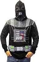 Star Wars Darth Vader Costume Mask Black Adult Hooded Sweatshirt Hoodie Jacket
