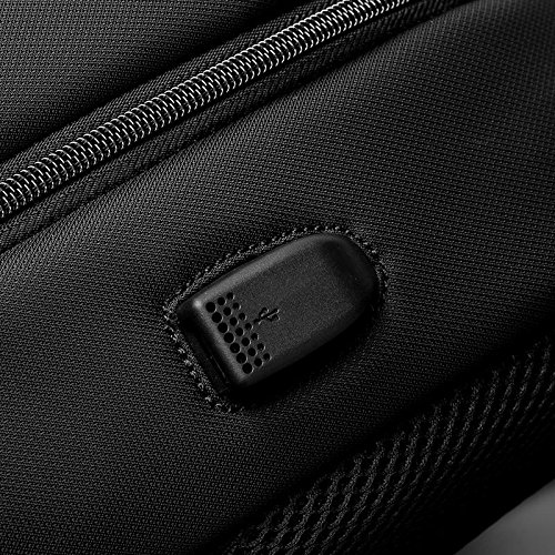 NIHE 15 pulgadas bolsa de hombro negro hombres mochilas bolsa bolso de la computadora de viaje de negocios de ocio de Corea
