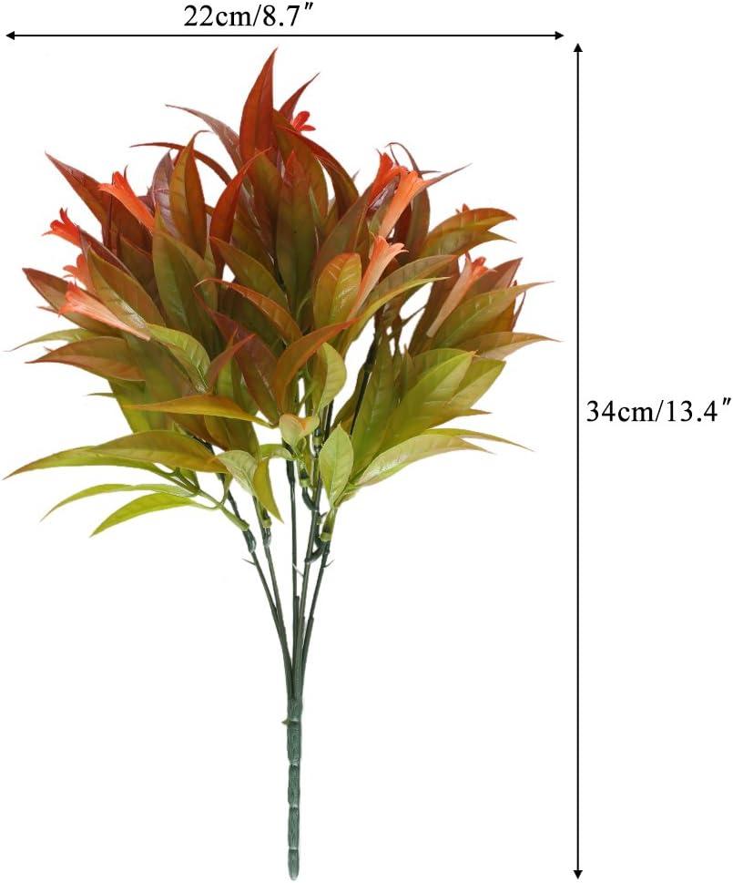 Nahuaa 4pcs K/ünstliche Pflanze Deko Kunstpflanzen Kunstblumen Plastik Blume K/ünstliche Gr/ünpflanze Plastikpflanzen f/ür Drau/ßen Fr/ühling Topf Balkon Garten Friedhof Dekoration