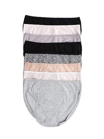 eb180512f39a Felina Cotton Full Coverage Hi Cut 8-Pack at Amazon Women's Clothing store:
