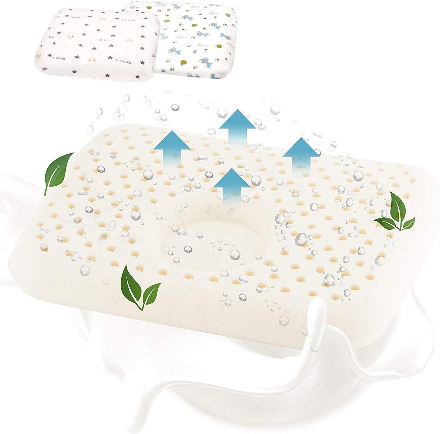 Jupistar–Almohada para bebés para evitar el aplanamiento de la cabeza, suave y blando, transpirable, sin productos químicos, almohada ortopédica para bebés y niños de 0-36meses