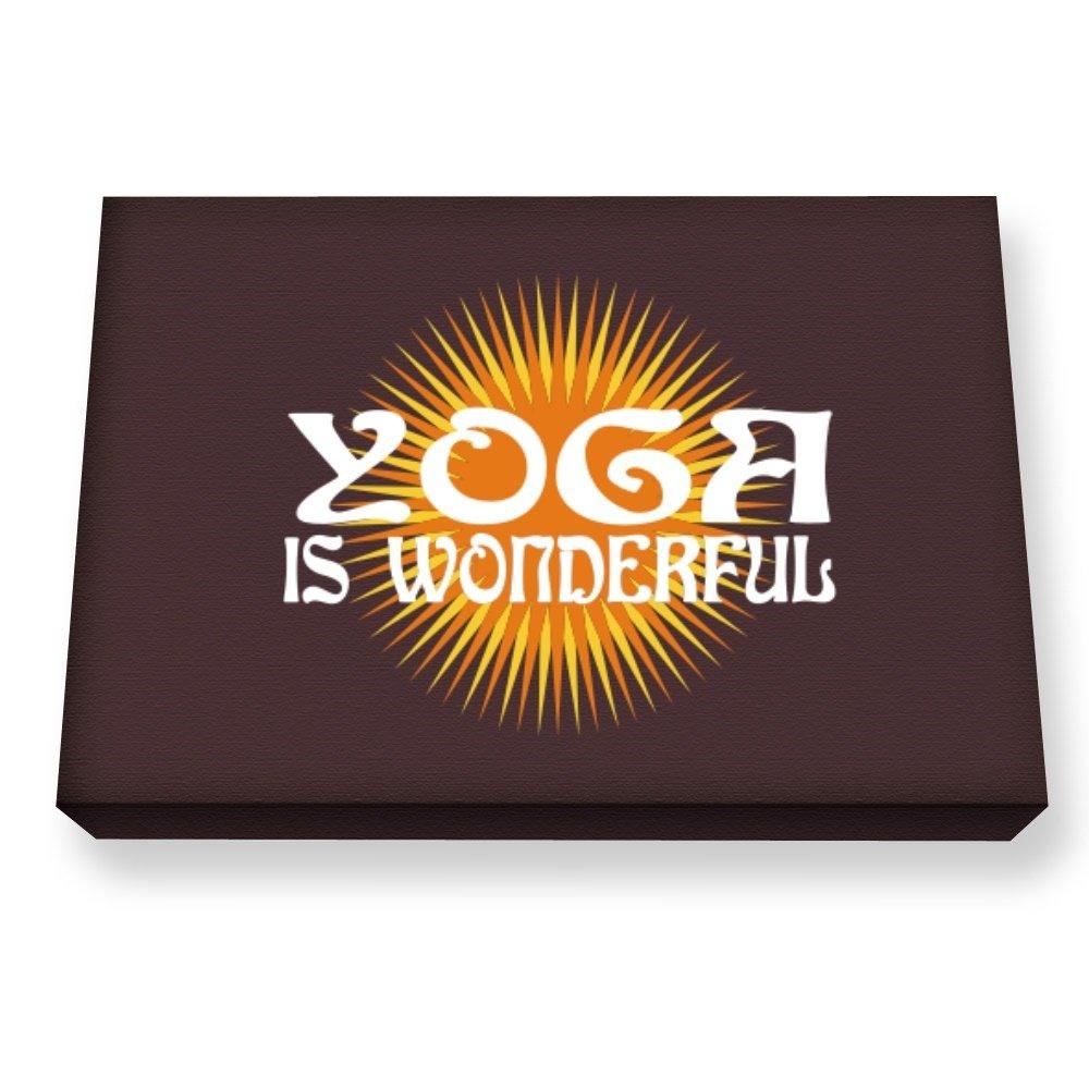 Teeburon Yoga is wonderful Cuadro en lienzo: Amazon.es: Hogar