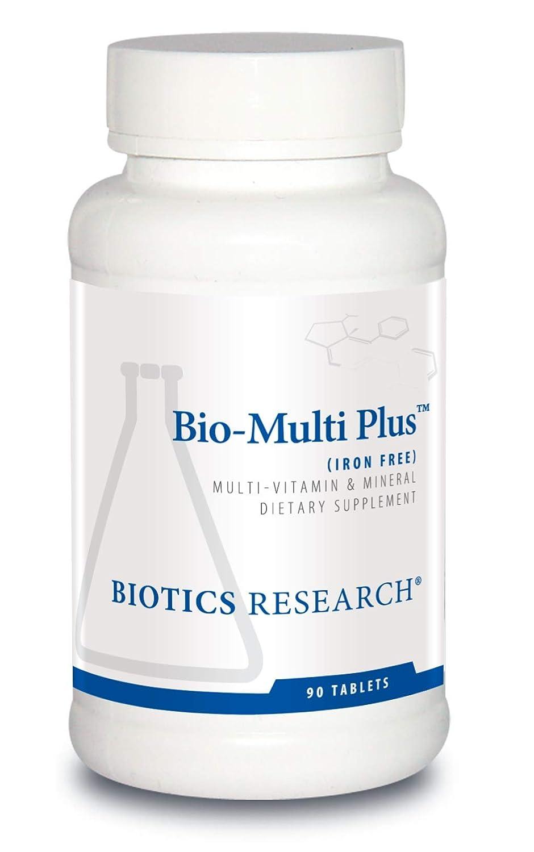 Biotics Research Bio-Multi Plus Iron Free – Multivitamin, Chelated Minerals, Iron-Free, Emulsified Fat-Soluble Vitamins, High antioxidants, SOD, Catalase 90 ct