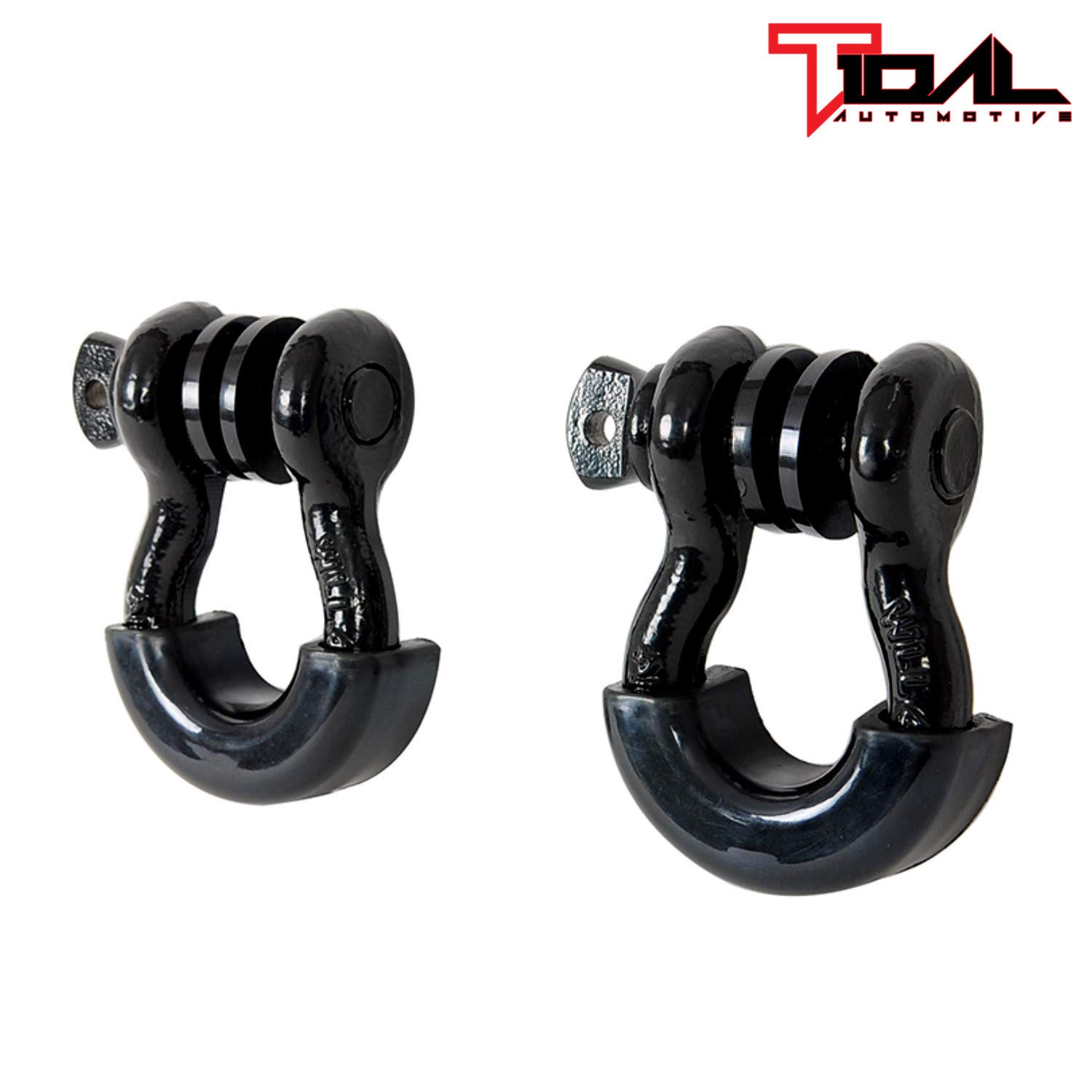 EAG 3//4 Black D-Ring Shackles 4.75 Ton Capacity with 7//8 Diameter Pin and Black Isolator /& Washer Kits 1 Pair