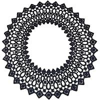 Healifty 1 Rollo de Encaje El/ástico Ribete El/ástico Bandas Banda de Costura de Carrete Cord/ón El/ástico Plano para Bricolaje Artesan/ía Tejer Costura 5M Blanco