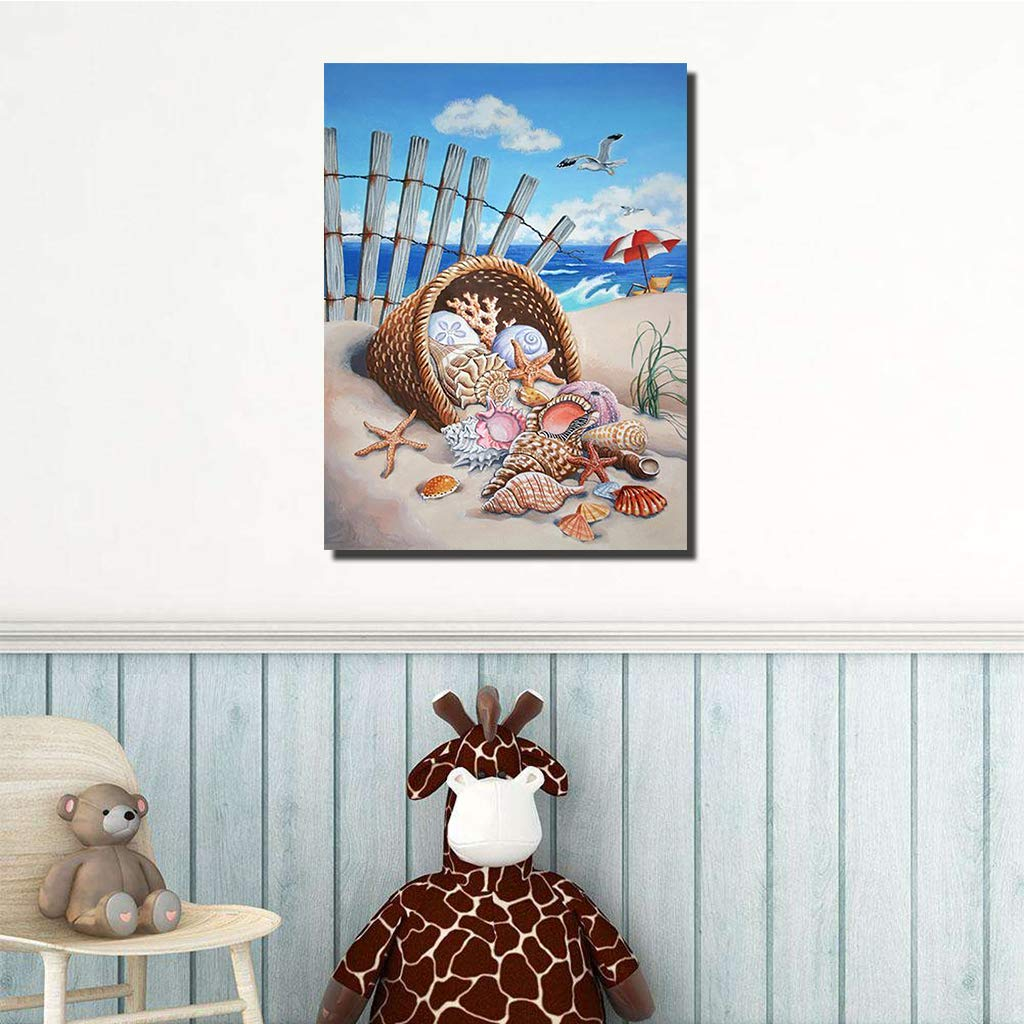 Apomelo 12/×16 inches Diamond Painting Summer Holiday Full Paint with Diamonds Embroidery Dotz Kit Art Crafts for Decor Beach Conchs