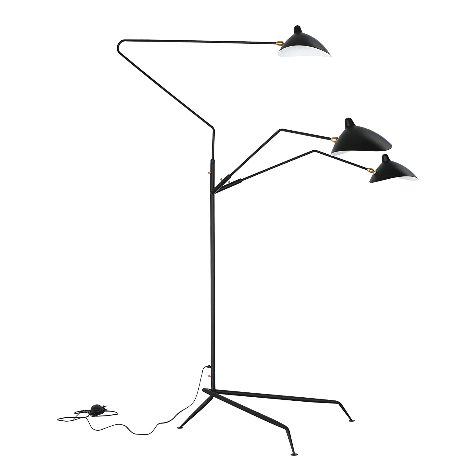 Reproduction of serge mouille three arm floor lamp standing lamp reproduction of serge mouille three arm floor lamp standing lamp amazon arubaitofo Images