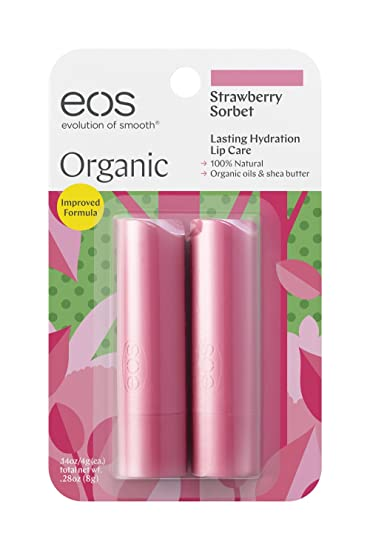 eos Evolution of Smooth Lip Balm Stick Strawberry Sorbet, 2 Ea, 2 Pack Dr. Jart+ Cicapair Derma Green Tiger Grass Repair Serum 30 ml / 1 fl. oz.