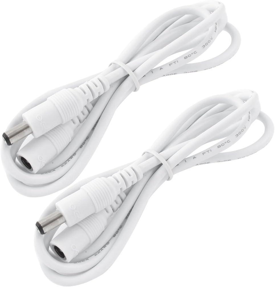 Moniteurs Liwinting 2 M/ètres Rallonge Cordon dalimentation DC 2,1mm x 5,5 mm M/âle /à Femelle Connecteur pour Adaptateur Secteur LED et Plus Blanc CCTV Camera Power Voiture