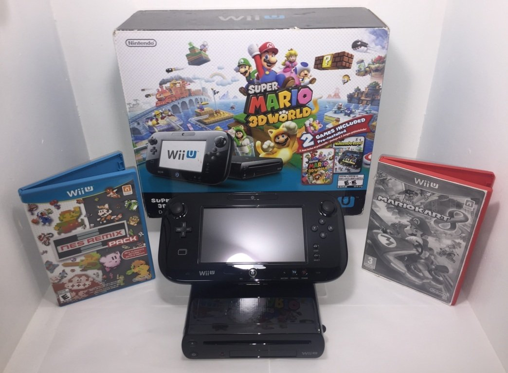 Nintendo Wii U Console Mario Kart 8 Deluxe Set with 32 GB Storage - Black by Nintendo