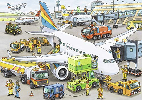Ravensburger Busy Airport - 35 Piece Jigsaw Puzzle for Kids – Every Piece is Unique, Pieces Fit Together Perfectly by Ravensburger