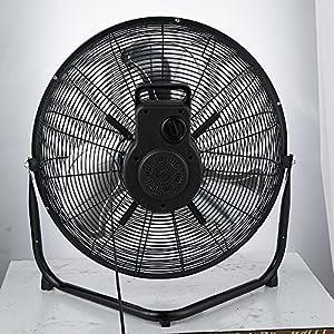 PELONIS FE50-18N Air Circulator Fan, Metal Black