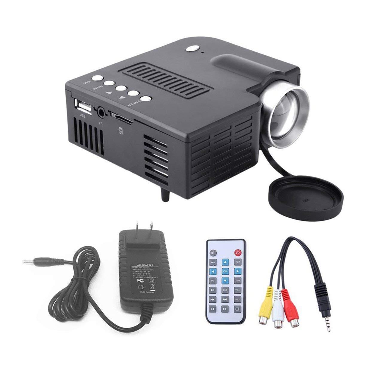 UC28A Conveniente Portátil HD 1080P 1080P 1080P Proyector de Video LED Cine en el hogar Entretenimiento Multimedia PC USB TV AV Proyector de Video 8bc49c