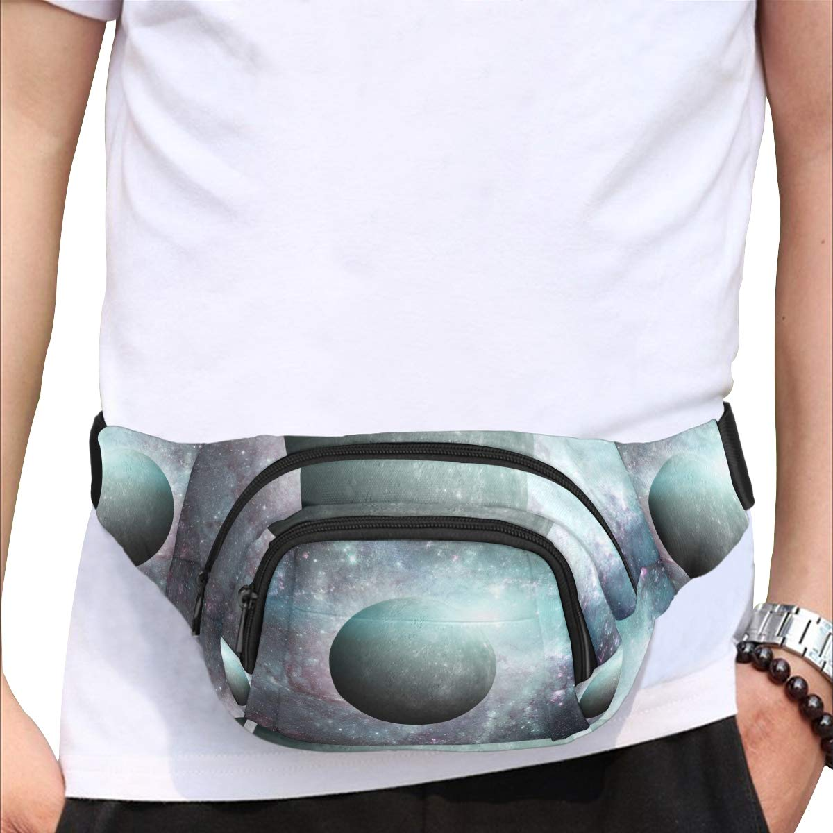 Beautiful Planets Of The Solar System Fenny Packs Waist Bags Adjustable Belt Waterproof Nylon Travel Running Sport Vacation Party For Men Women Boys Girls Kids
