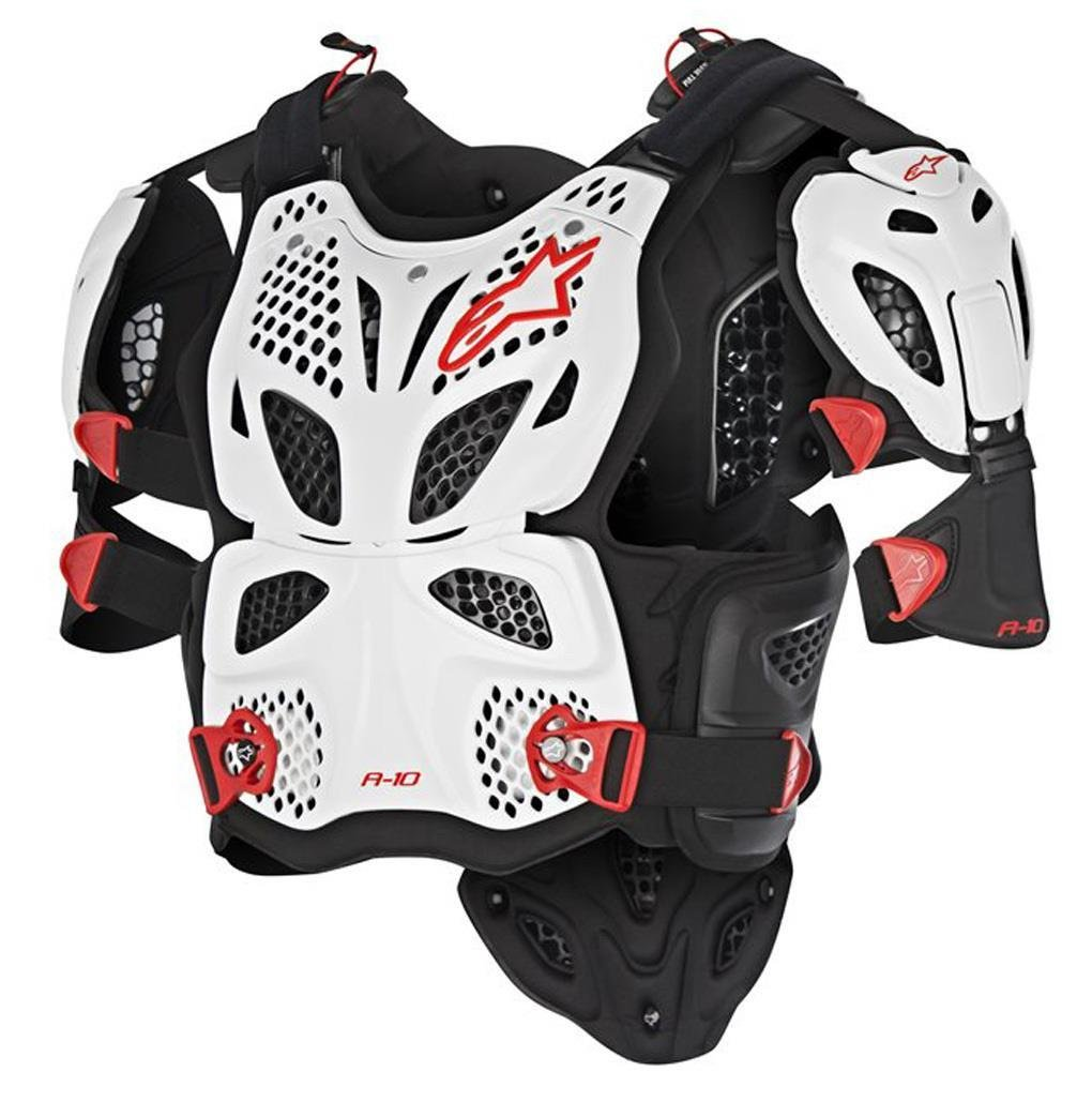 Alpinestars A-10 Chest Protector (X-Large/XX-Large) (White/Black/Red) by Alpinestars