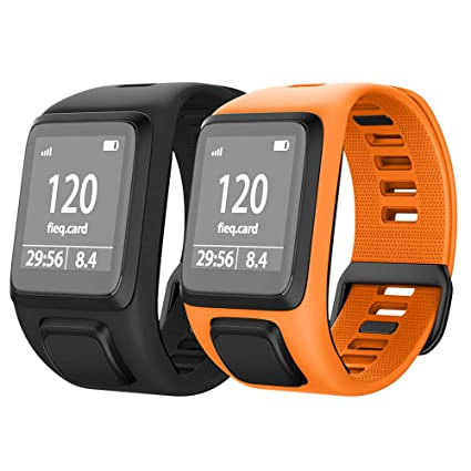 NotoCity Compatible with Spark 3/Golfer 2/Adventurer/Runner 2/3/ Silicone Watch Band Replacement for Spark/Spark 3/Golfer 2/Adventurer/Runner 2/3 ...
