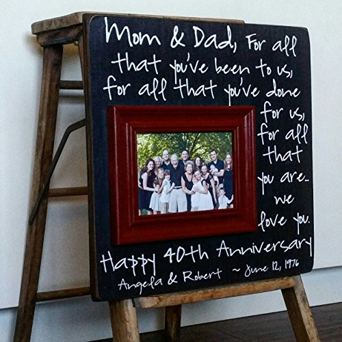40th Anniversary Gifts, Parents 50th Anniversary Gift, For All That You Have Been To Us, Anniversary Frame, 16x16 THE SUGARED PLUMS