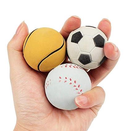 TINGSU - Pelota de pelota de tenis para entrenamiento, juguete ...