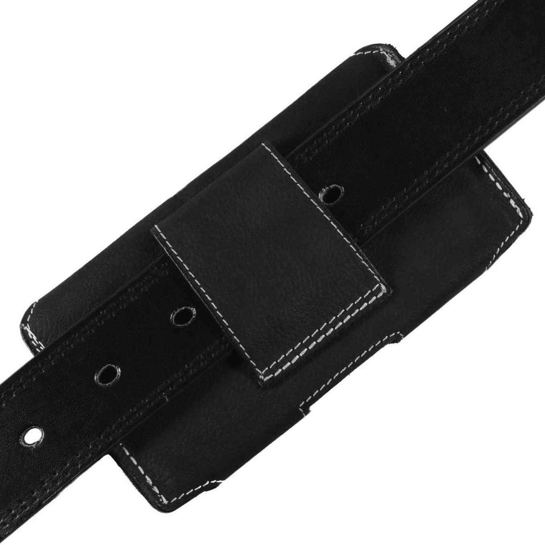 MATADOR G/ürteltasche kompatibel mit iPhone XS MAX oder 11 Pro MAX Leder Case Lederh/ülle Ledertasche Crazy Black Schwarz