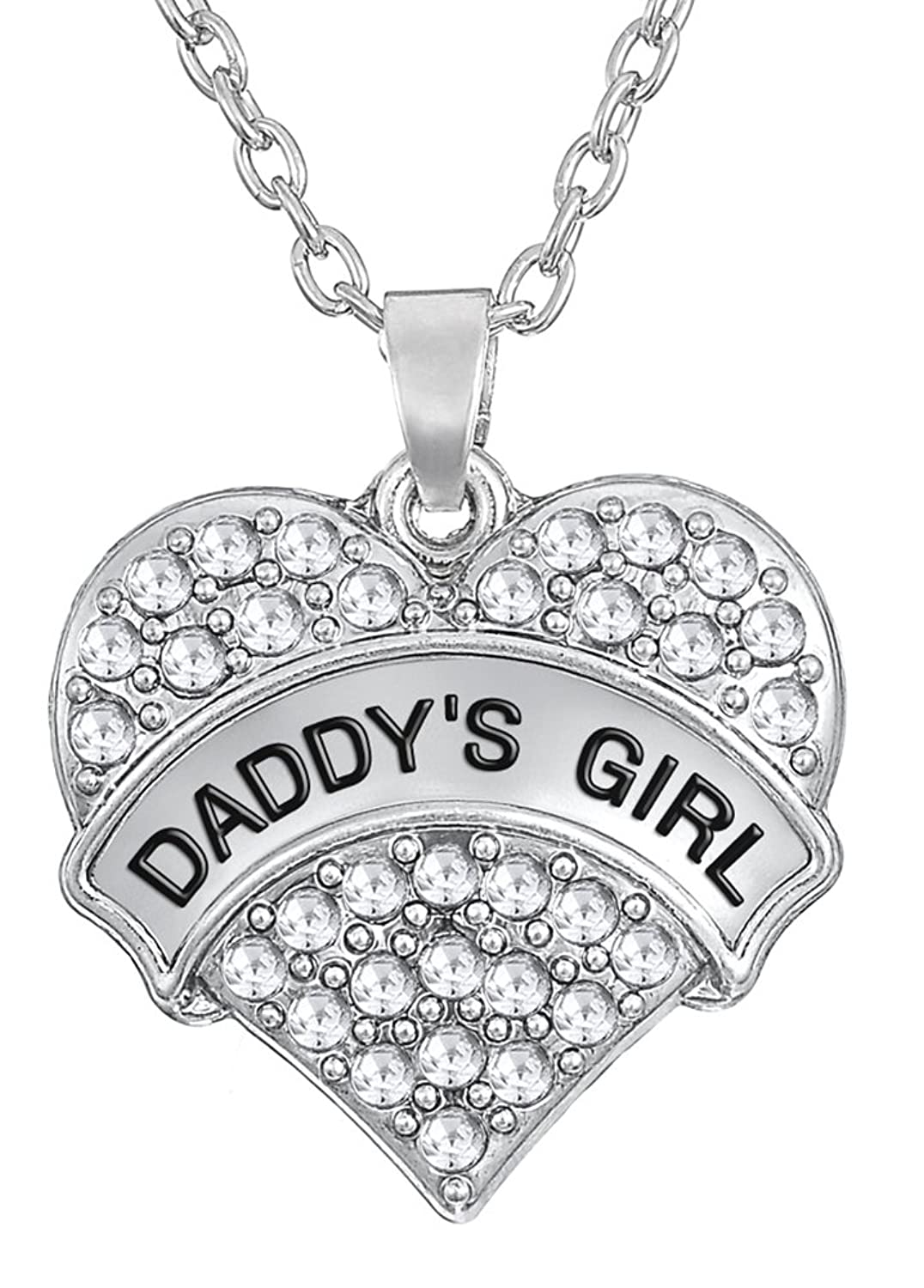 ''DADDY'S GIRL'' Heart Necklace for Daughters   Daughter Gift From Father   Gifts From Dad   Jewelry Gifts   Mother's Day Gifts