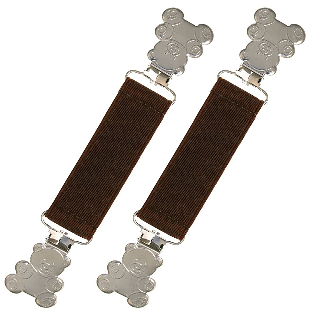 Extra Strong Elastic Teddy Bear Glove and Mitten Clips - Best Warranty! ZM-MC-T-LBR