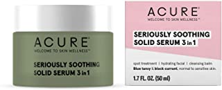 product image for ACURE Seriously Soothing Solid Serum 3 in 1 | 100% Vegan | For Dry to Sensitive Skin | Blue Tansy & Black Currant | Multi-Functional - Spot Treatment, Hydrating Facial & Cleansing Balm | 1.7 Fl Oz