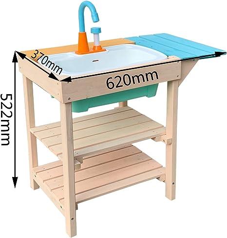 Cocina de madera de juguete para niños adecuada para exterior, jardín o terraza, con fregadero: Amazon.es: Bricolaje y herramientas