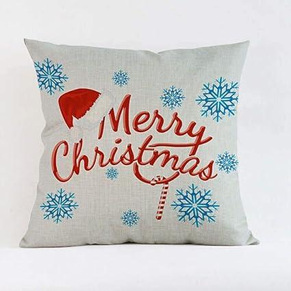 Amazon.com: SLS - Funda de cojín decorativa de lino y ...