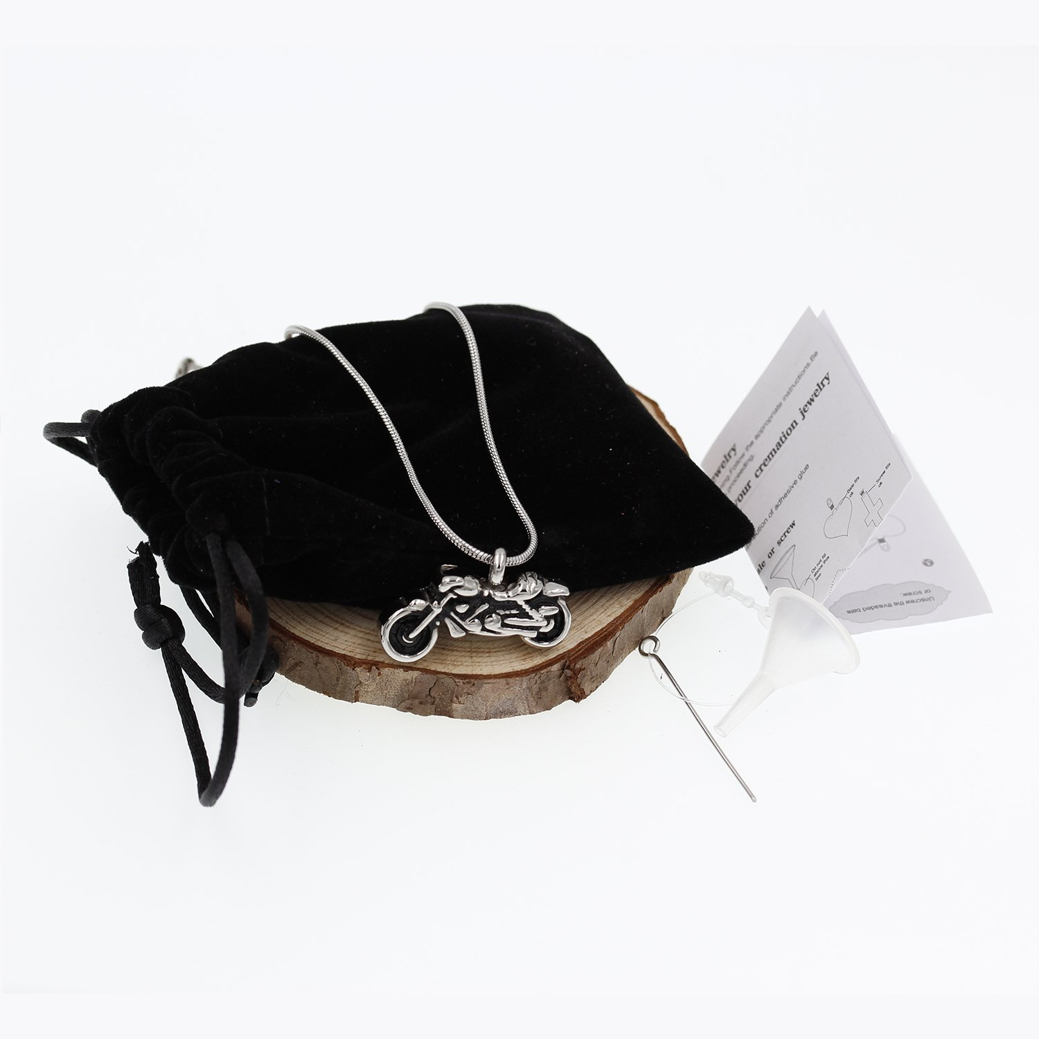 Hufan Motorcyle Cremation Jewelry for Ashes with Funnel and Chain by Hufan (Image #2)