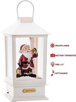 Toowell Musical & Lighted Santa Claus Christmas Lanterns