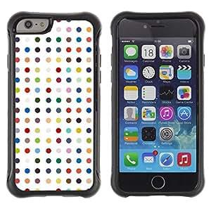 LASTONE PHONE CASE / Suave Silicona Caso Carcasa de Caucho Funda para Apple Iphone 6 / Polka Dot White Pastel Color Pattern
