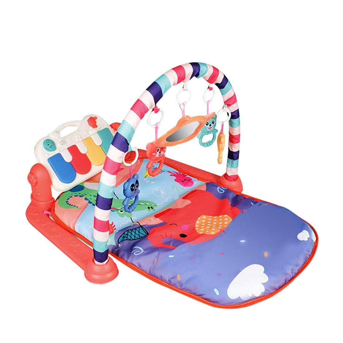3 en 1 Gimnasio Infantil Bebe con M/úsica y Luces Manta de Juego para Beb/é Yavso Gimnasio Piano Pataditas 76 x 60 x 45cm