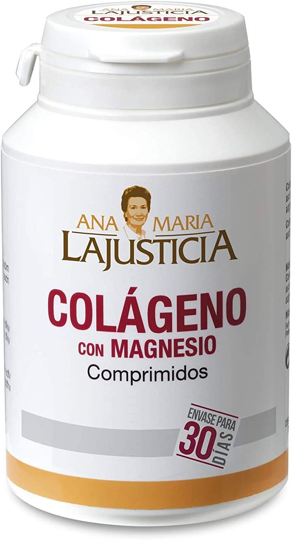 Ana Maria Lajusticia - Colágeno con magnesio – 180 comprimidos articulaciones fuertes y piel tersa. Regenerador de tejidos con colageno hidrolizado tipo 1 y tipo 2. Envase para 30 días de tratamiento.