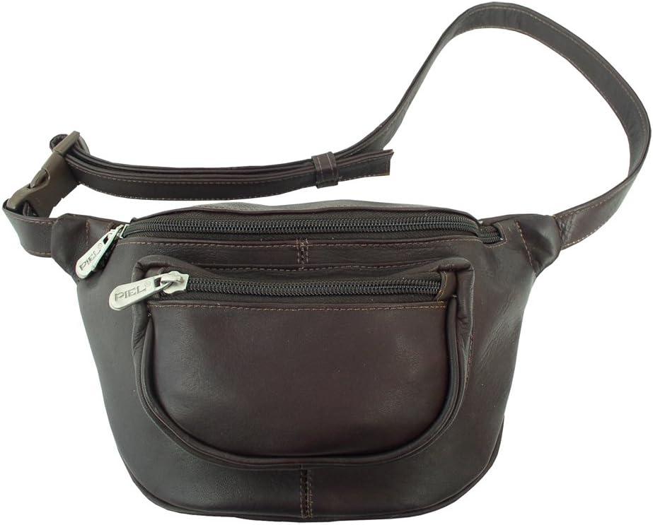 Piel Leather Travelers Waist Bag, Chocolate, One Size