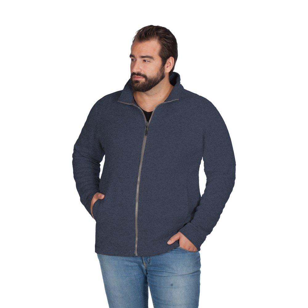 Promodoro Strick Fleece Jacke C+ Plus Size Herren: