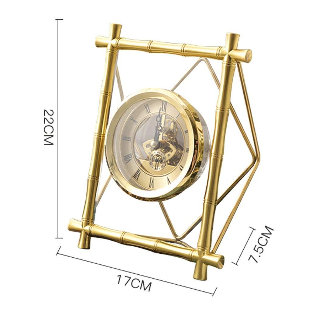 HONGNA Table Gear Rotating Clock Clock Seat Living Room Bedroom Clock Decoration Creative Retro Table Clock Titanium Body (Size : 17227.5cm) by HONGNA (Image #2)