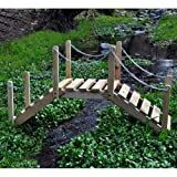 Decorative Garden Bridge - Natural
