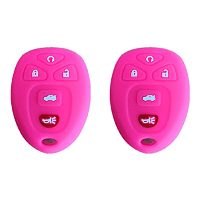 KAWIHEN SiliconeProtector CoverFit for Buick Cadillac Chevrolet Chevy CMC Pontiac Saturn 5 Buttons key fob KOBGT04A 22733524 10305091 10305092 OUC60270 OUC60221 15913415 15857839: Automotive