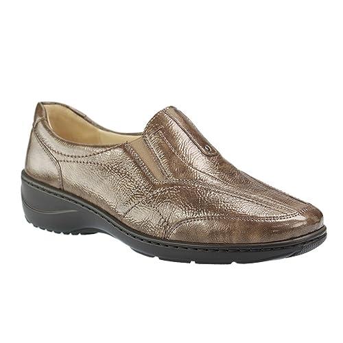 Waldläufer 607504-143-133 Kya - Mocasines de charol para mujer, color marrón, talla 38 EU: Amazon.es: Zapatos y complementos