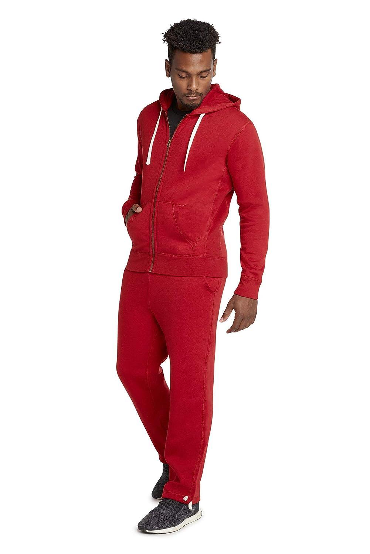 9 Crowns Men's Fleece Modern Fit Sweat Pants Hoodie Set Tracksuit