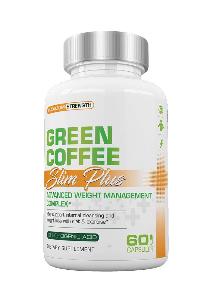 Slim Plus Green Coffee - Slimplus Green Coffee Weight Loss, Must be used with Slimplus Garcinia Camgobia (Single Bottle) by Slim Plus
