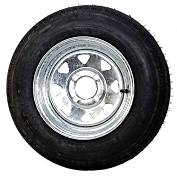 Amazon Com 12 X 4 Galvanized Steel Spoke Trailer Wheel 4 Lug W