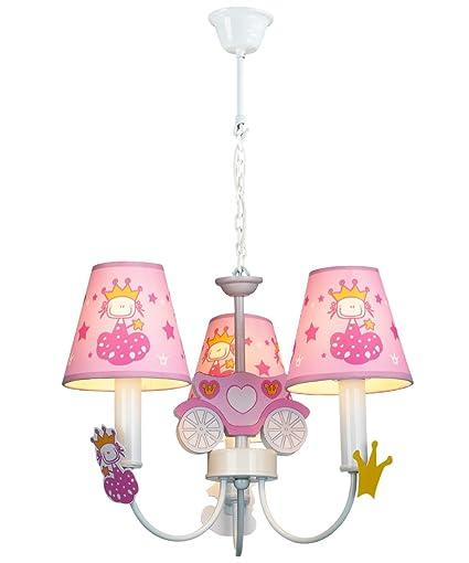 PureLumeTM – Lámpara infantil de techo Carriage Heart para niña, colores