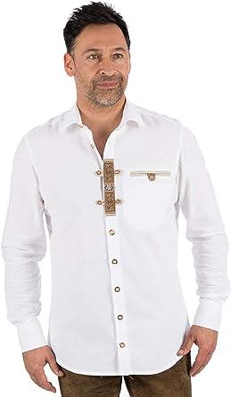 OS Lukas - Camisa para Traje Tradicional, Color Blanco: Amazon.es: Ropa y accesorios