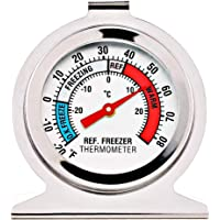 Refrigerator Freezer Thermometer Large Dial Thermometer