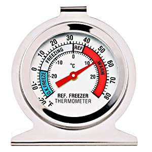 4 Pack Refrigerator Freezer Thermometer Large Dial Thermometer