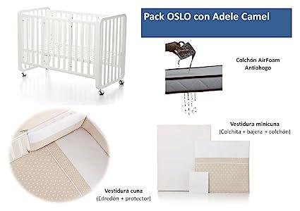 Bolin Bolon Pack Cuna-minicuna colecho OSLO completa ADELE CAMEL